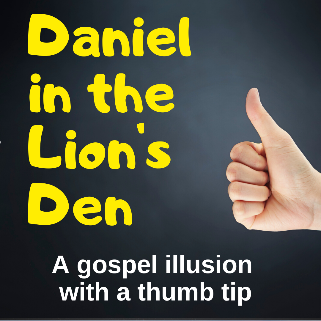 Gospel illusion for Sunday school or kidmin on theme of pride