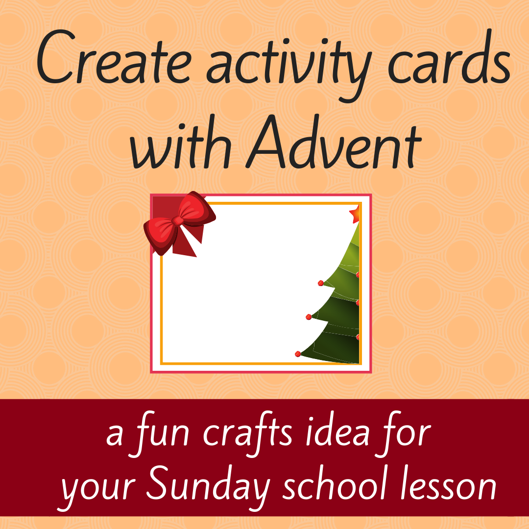 Create activity cards a fun free crafts idea for your Sunday school lesson youth ministry Bible lesson for children and youth work