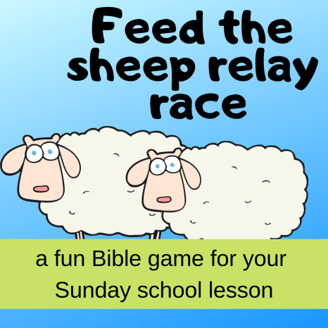 Feed the sheep relay fun Bible game about Bible story Abram Lot separating Sunday school lesson VBS youth ministry Bible lesson childrens ministry school assembly childrens church kidmin
