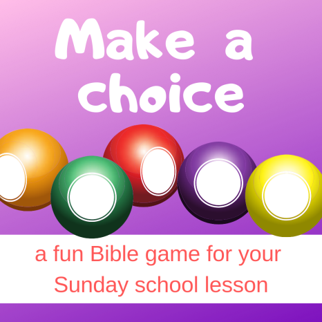 Make a choice fun Bible game about Bible story Abram Lot separating Sunday school lesson VBS youth ministry Bible lesson childrens ministry school assembly childrens church kidmin
