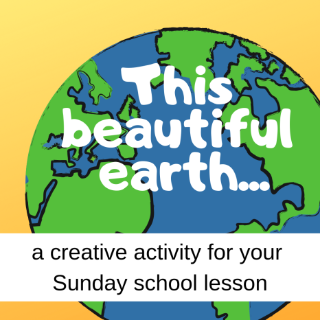 This beautiful earth creative activity about Bible story Abram Lot separating Sunday school lesson VBS youth ministry Bible lesson childrens ministry school assembly childrens church kidmin