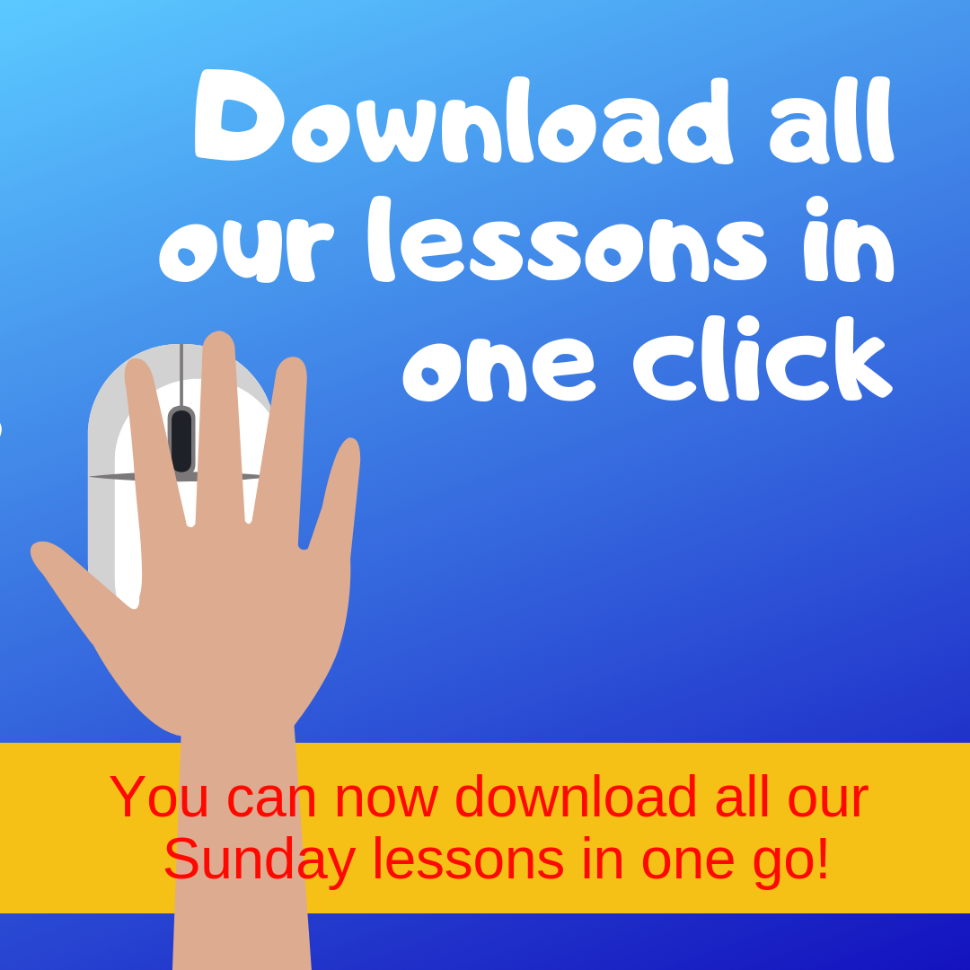 Download all our lessons in one click you can now download all our Sunday school lessons in one go ideal for youth ministry kidmin VBS childrens church kids church Sunday school childrens ministry