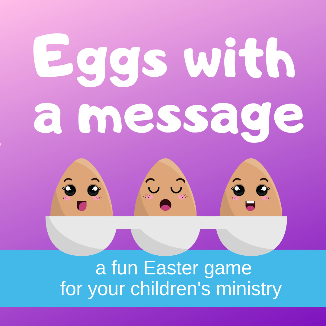 Eggs with a message Bible Easter game