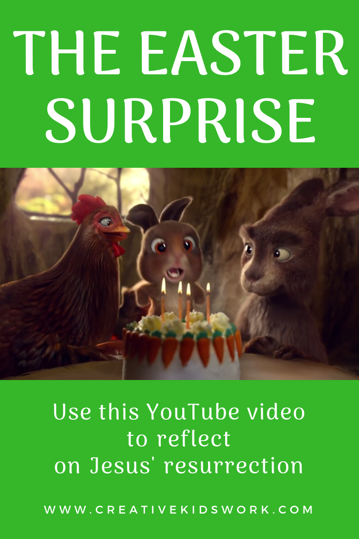 The Easter surprise use this YouTube video to reflect on the resurrection of Jesus for Sunday school lessons childrens ministry youth ministry kidmin and VBS