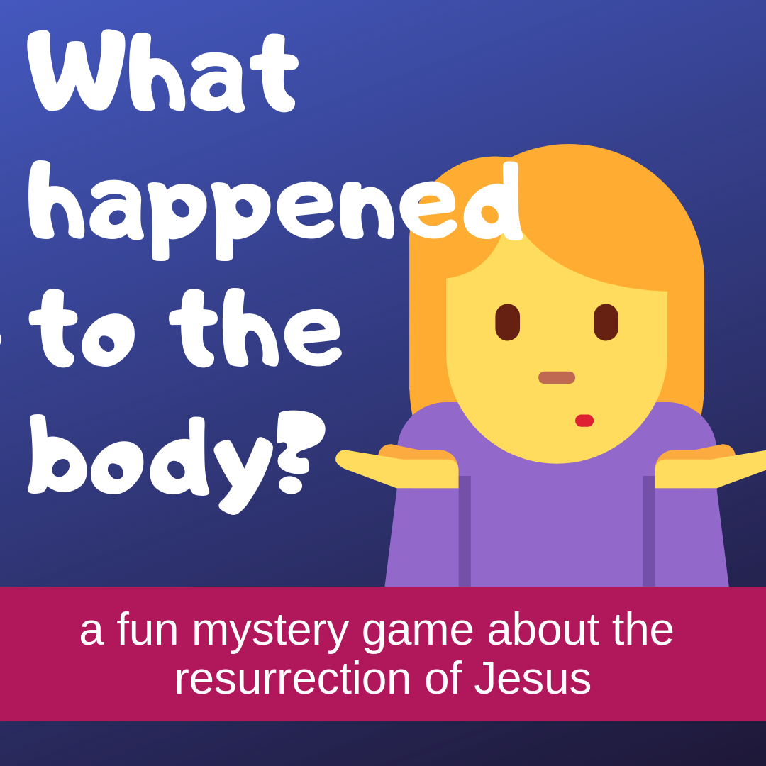 What happened to the body an Easter mystery game on the resurrection of Jesus for Sunday school lessons childrens ministry youth ministry kidmin and VBS