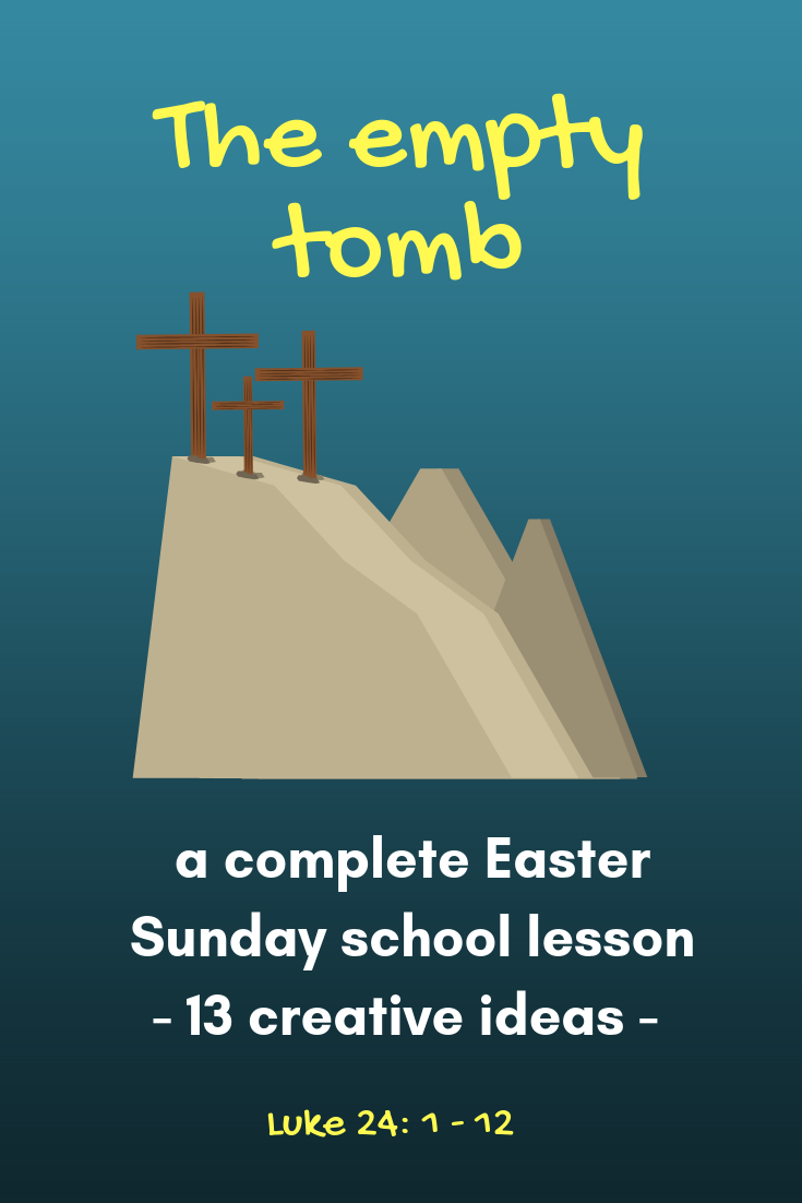 The empty tomb complete Easter Sunday school lesson on the resurrection of Jesus