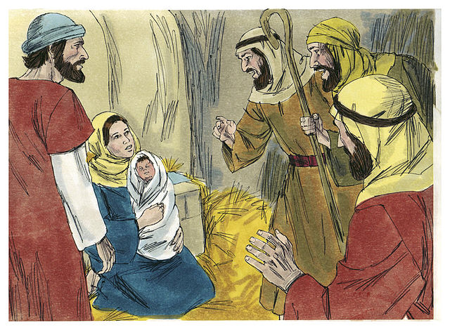 The birth of Jesus seen through the eyes of Maria