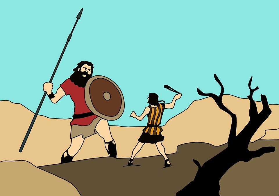 David And Goliath Strength Fight Bible