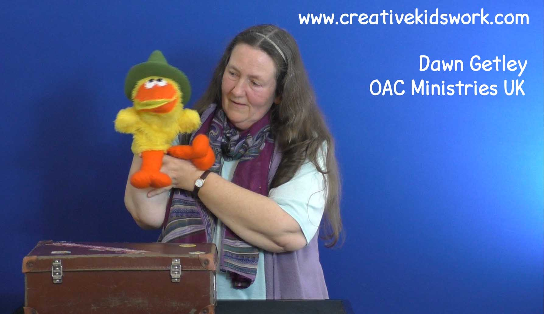 Dawn Getley does a ventriloquist act with her cute duck Aqua on being a Christian
