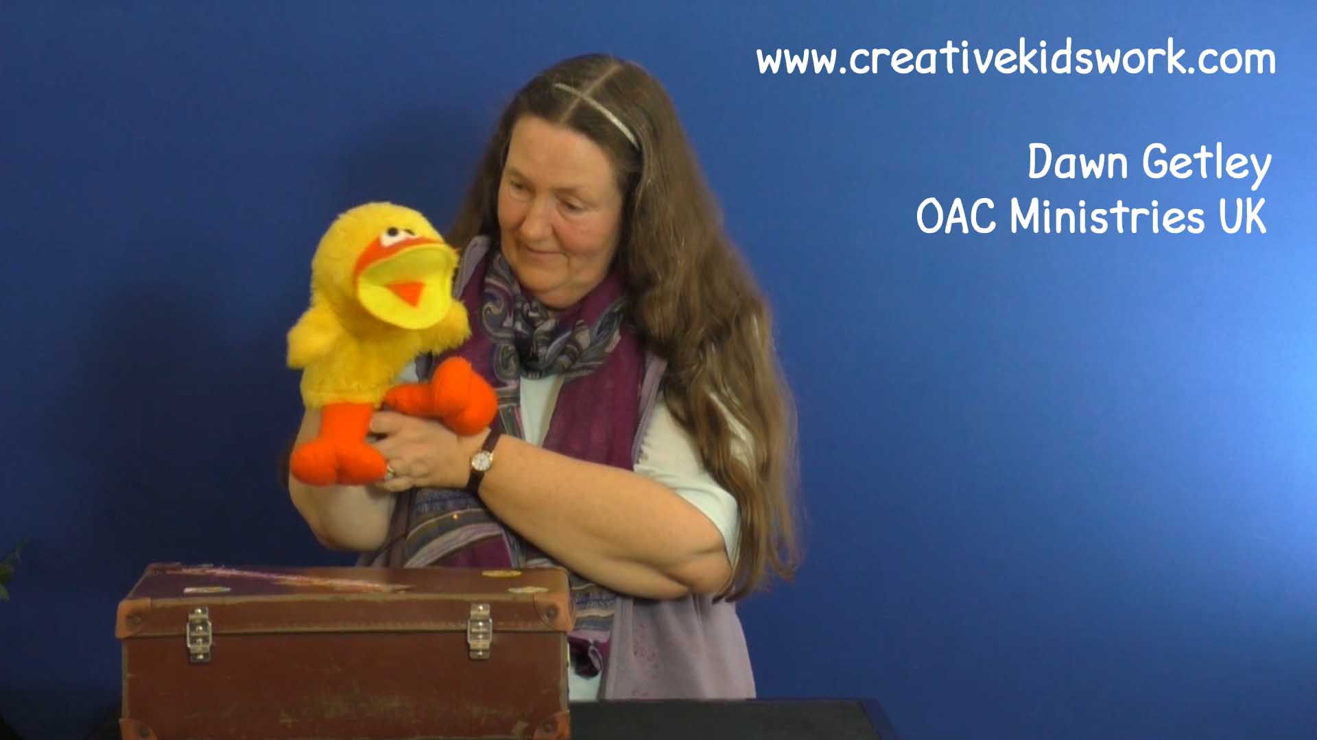 Dawn Getley does a ventriloquist act with her cute duck Aqua