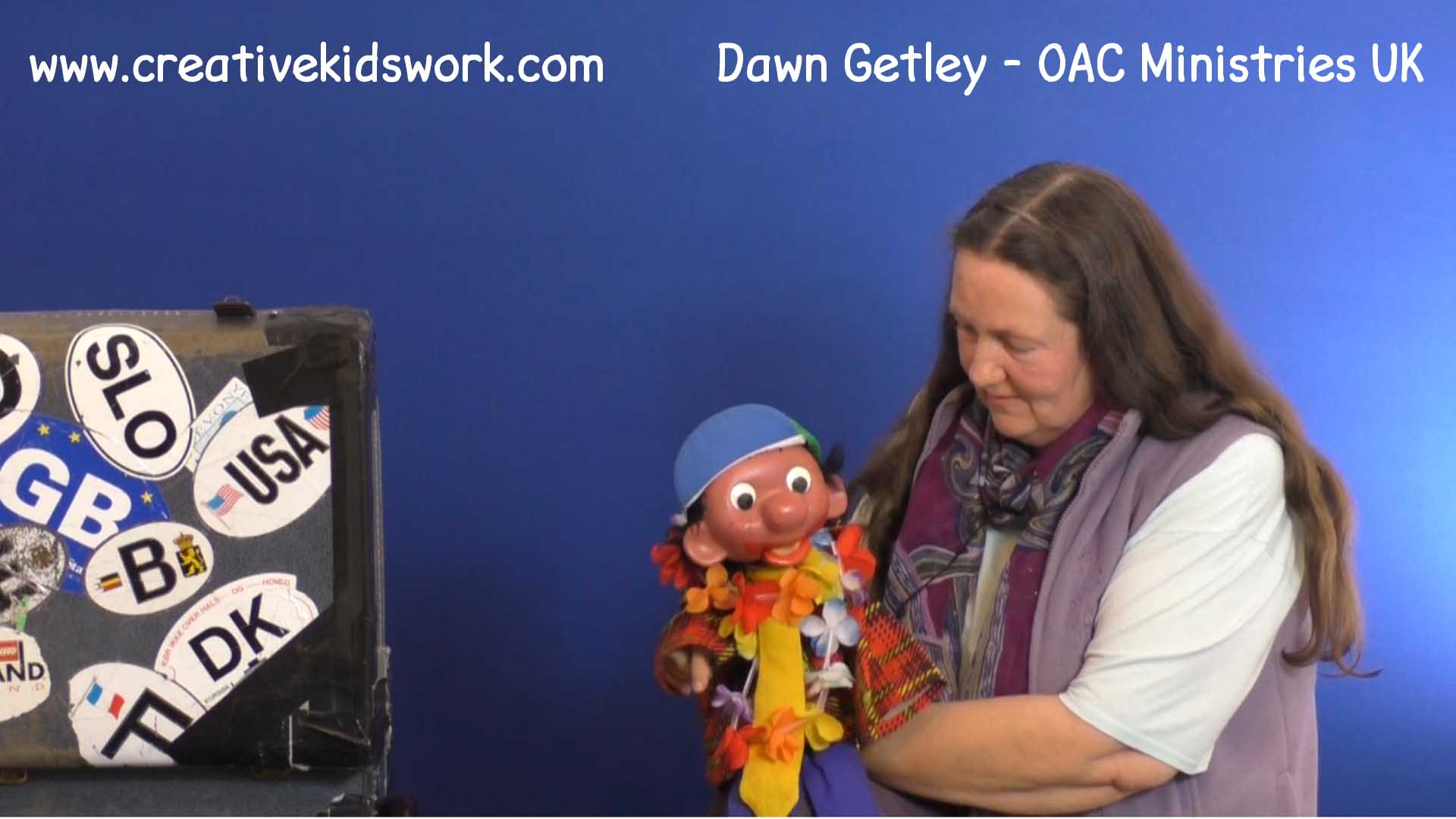 Dawn Getley does a ventriloquist act with her puppet Horace