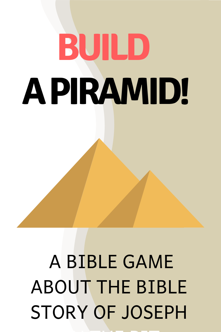 Build a piramid use this fun game to think about the Bible story of Joseph in Egypt. Ideal for a Sunday school lesson kids ministry or childrens church