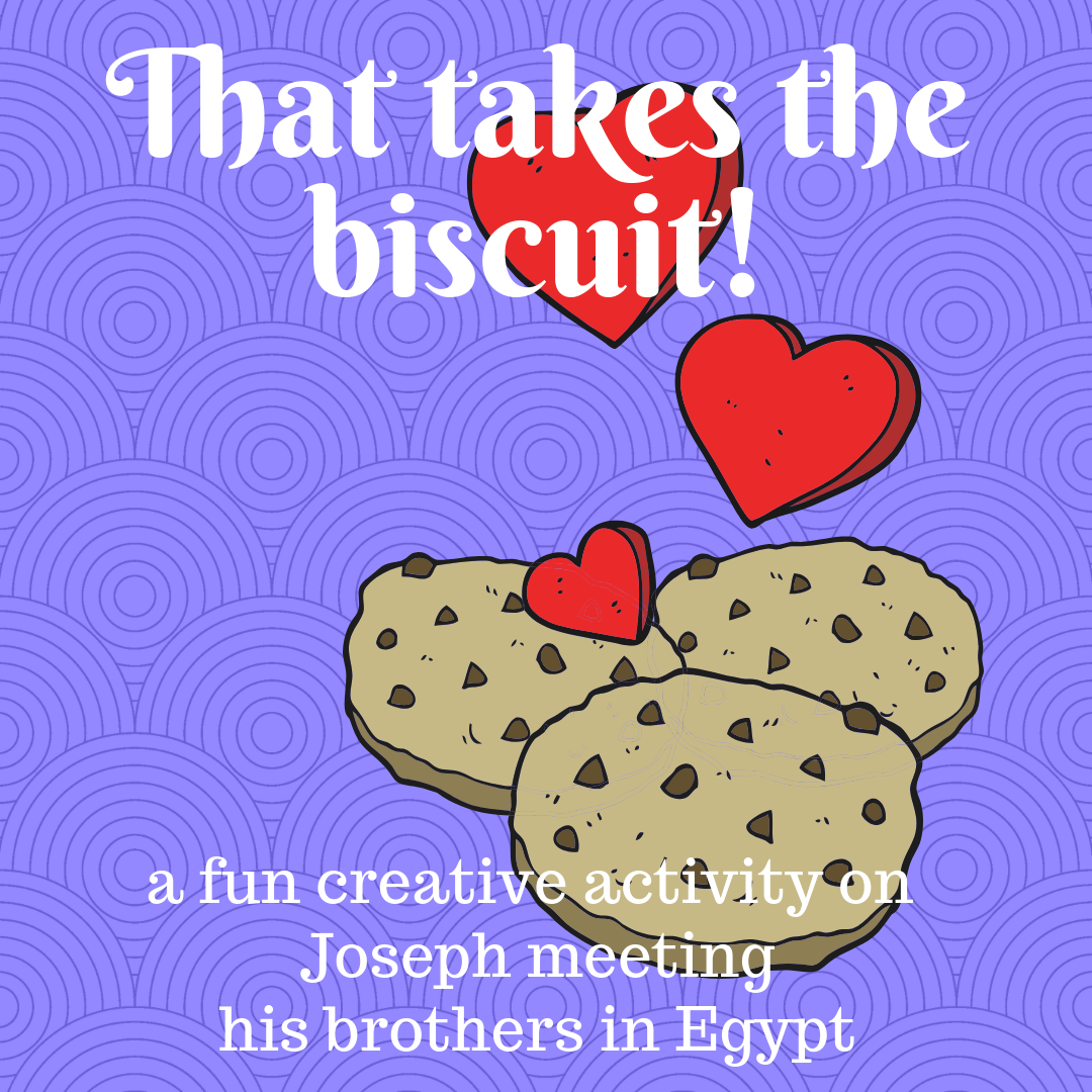 That takes the biscuit a creative activity on Joseph meeting his brothers in Egypt. Ideal for a Sunday school lesson kids ministry or childrens church