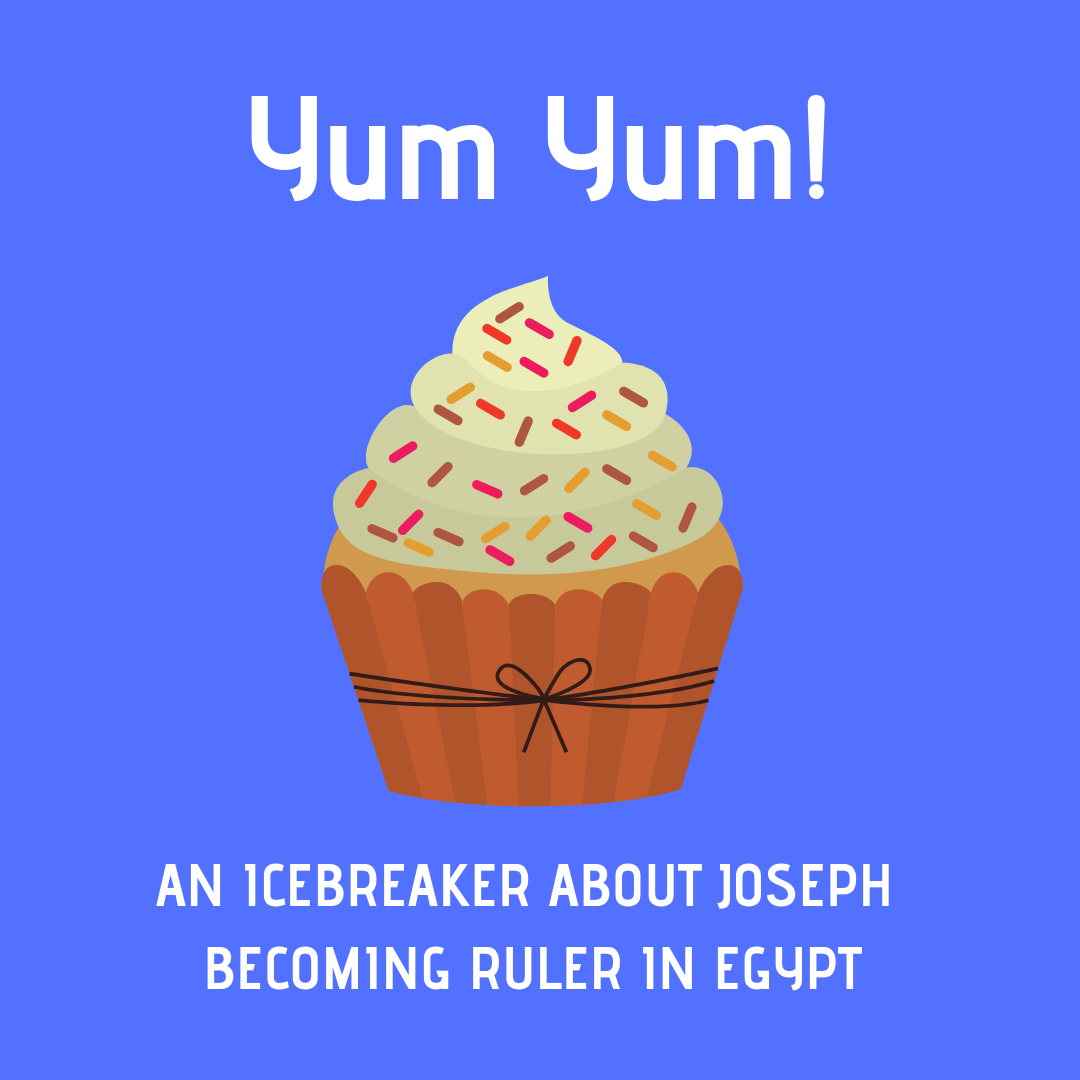 Yum Yum use this fun icebreaker to talk about the Bible story of Joseph becoming ruler in Egypt. Ideal for a Sunday school lesson kids ministry or childrens churc