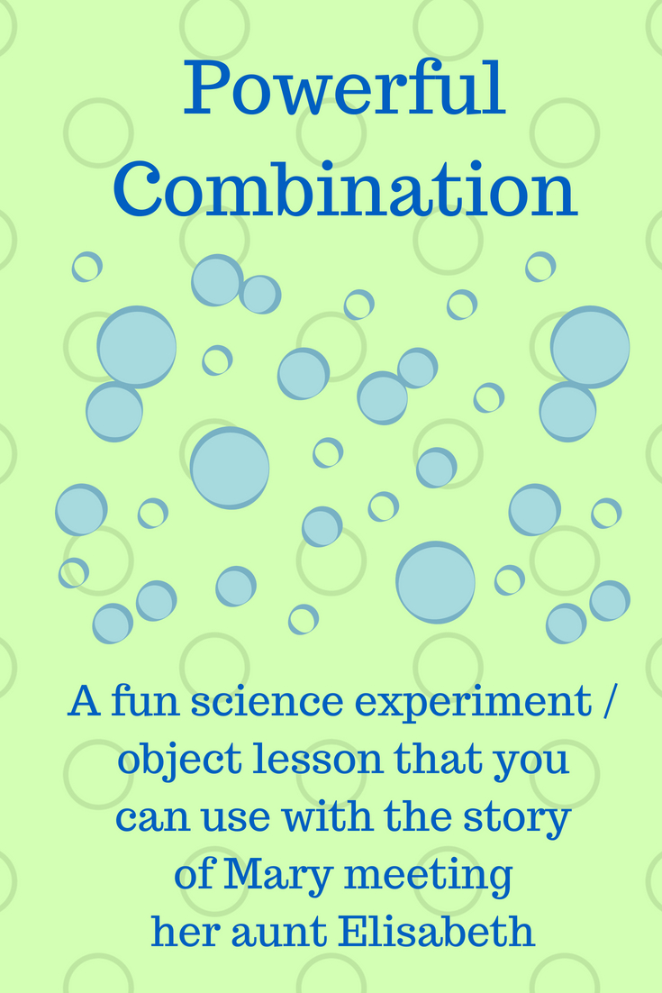 Powerful Combination a fun science experiement and object lesson that you can use with the st