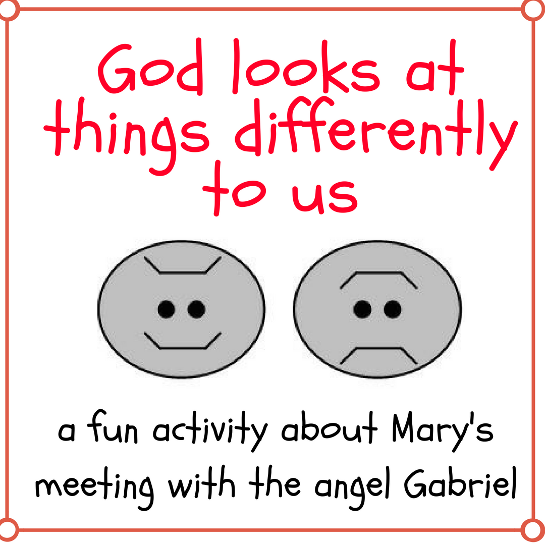 God looks at differently to us