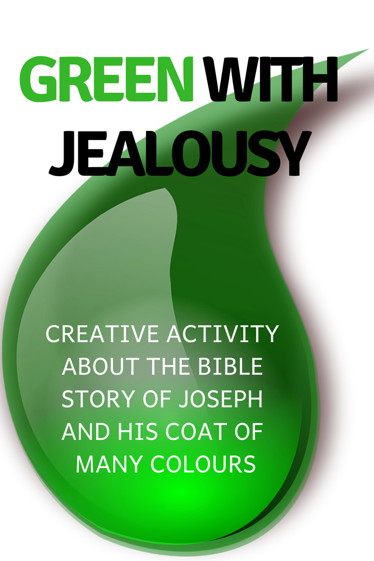 Green with Jealousy creative activity about the Bible story of Joseph and his coat of many colours