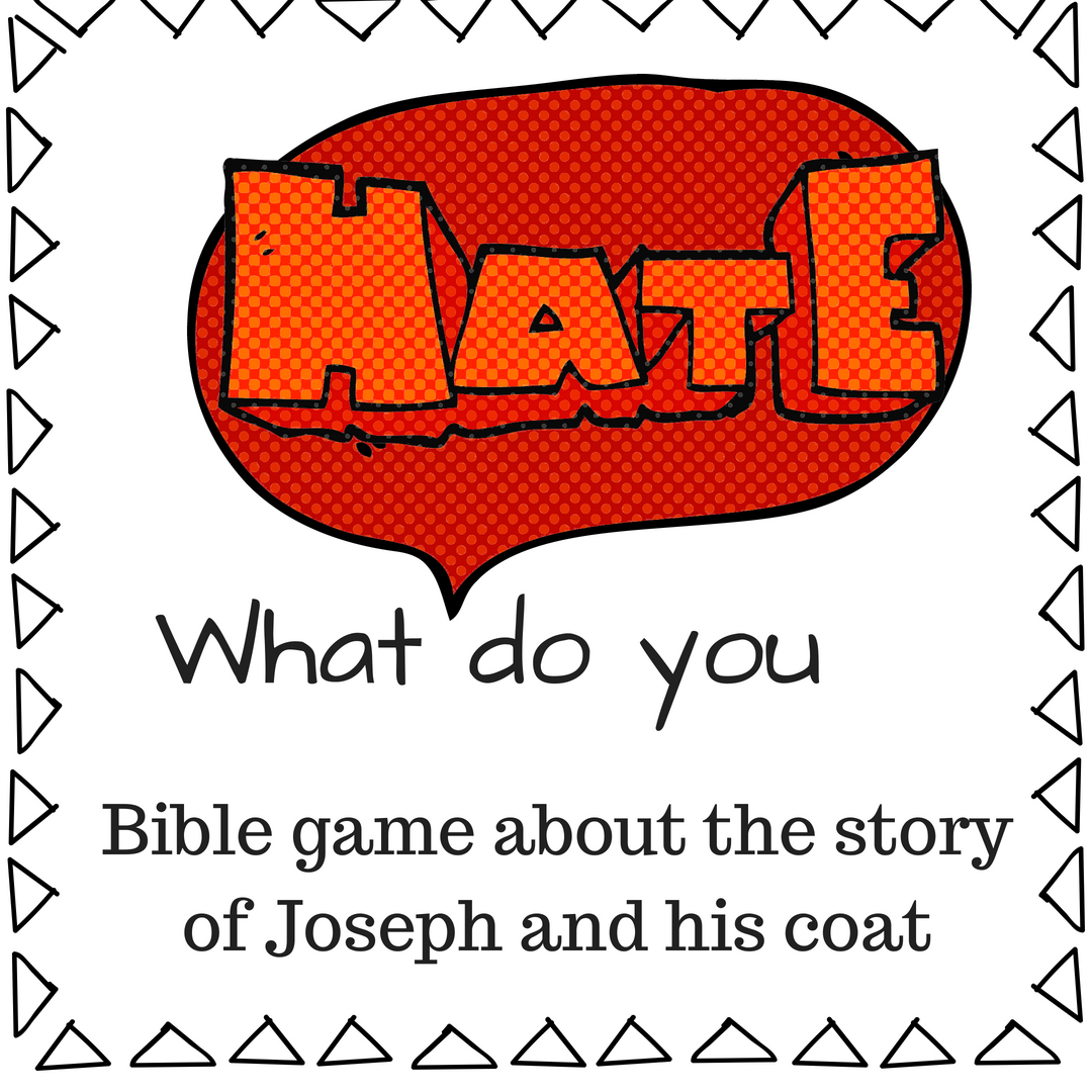 What do you hate fun Bible game about the Bible story of Joseph and his coat of many colours