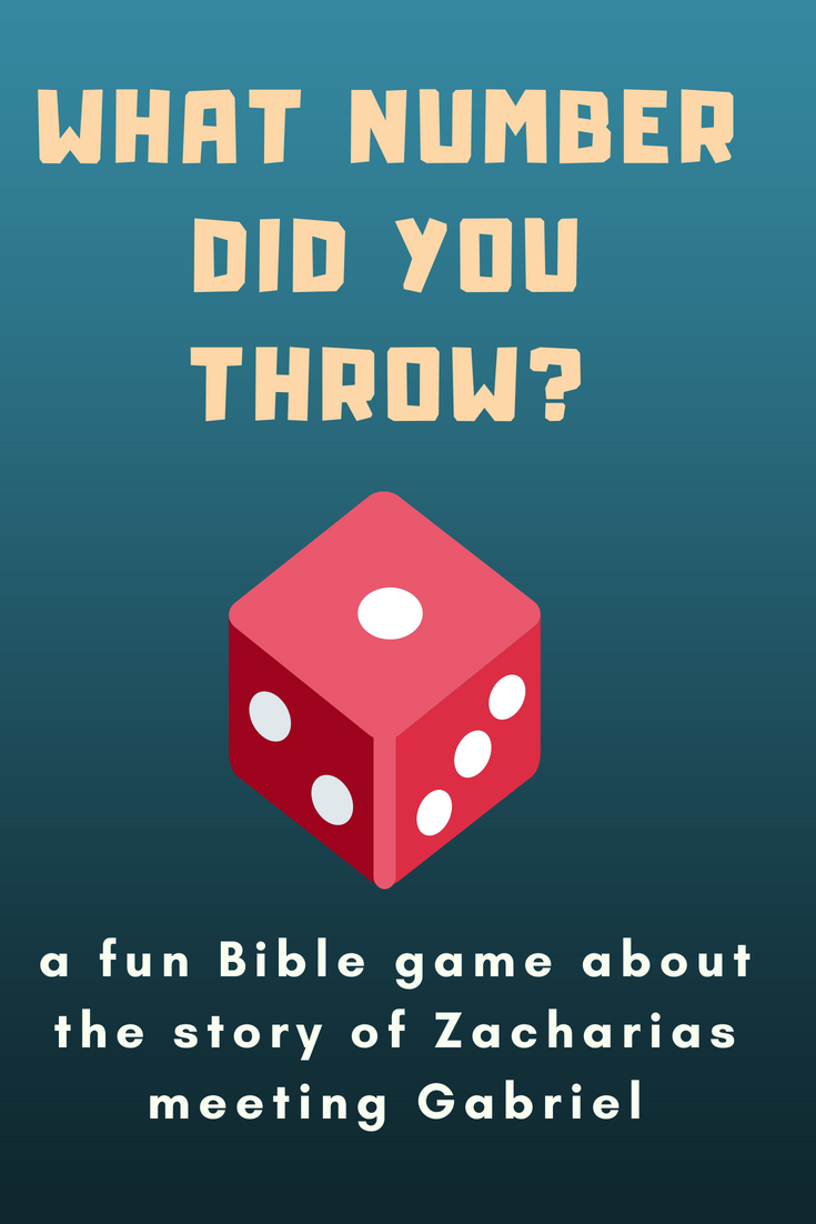 What number did you throw a fun Bible game about the story of the priest Zacharias meeting the angel Gabriel in the temple in Jerusalem