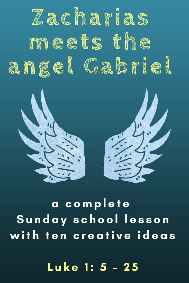 Zacharias meets the angel Gabriel a complete Sunday school lesson with ten creative ideas