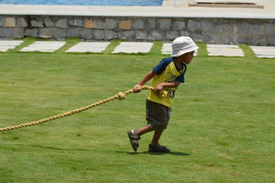 child walks with rope micah waling humbly with god